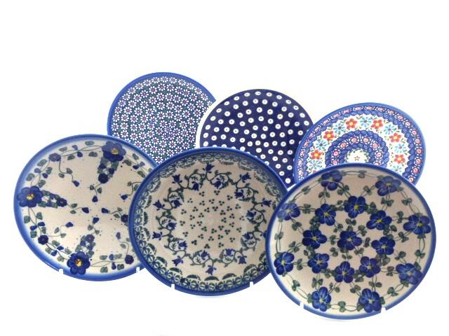 Bunzlauer Keramik Frühstücksteller Dessertteller 19 cm 6er Set Handarbeit Neu